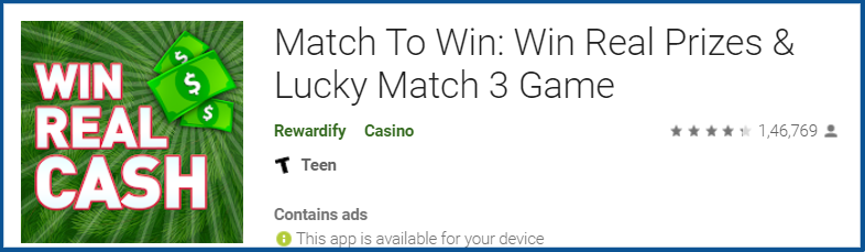 Match To Win app